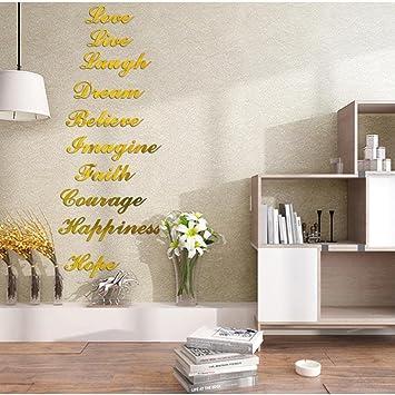 Baumarkt Auf Englisch englisch spiegelpaste wandaufkleber aufkleber haus dekoration gold