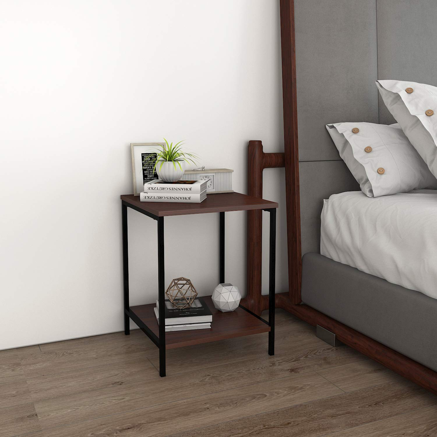 Amazon.com: Lifewit Small 2-Tier Side Table End Table Beside Sofa in ...