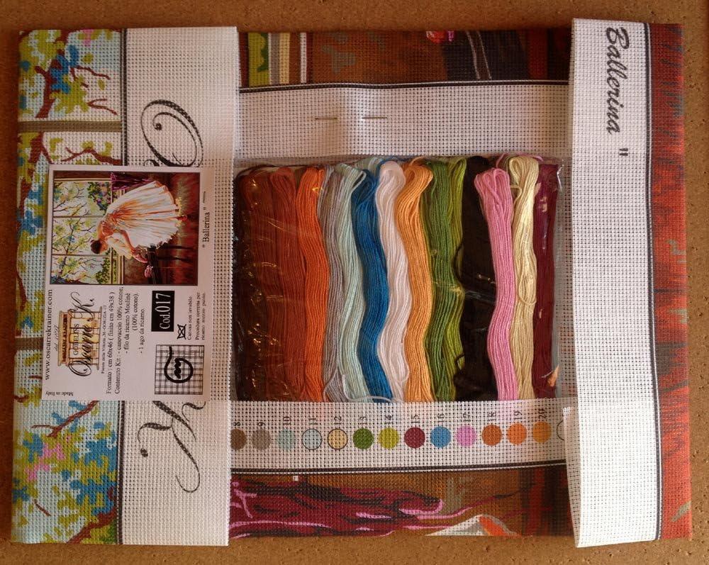 Printed Canvas cod K17XL Needlepoint Kit Ballerina 19.3x15 49x38cm
