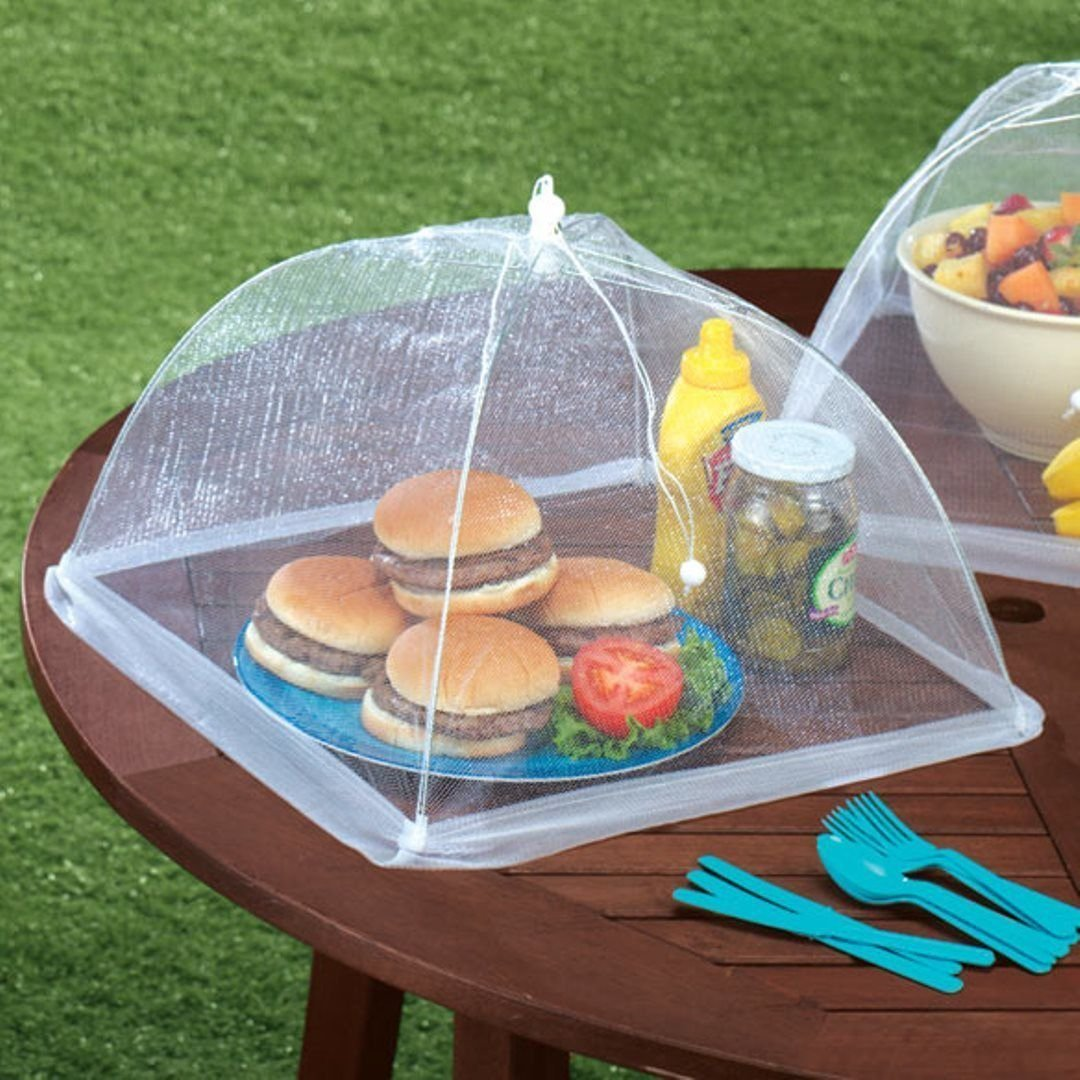 Amazon.com KOVOT Pop Up Mesh Screen Food Cover (4 Pack) - Now With Extended Material Flap Kitchen u0026 Dining & Amazon.com: KOVOT Pop Up Mesh Screen Food Cover (4 Pack) - Now ...
