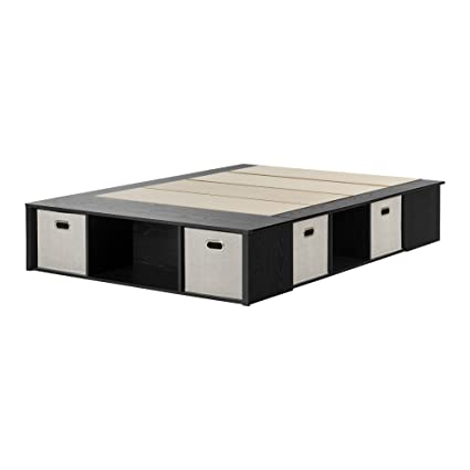 1e90114ebdd Amazon.com  South Shore Flexible Platform Bed with Storage and Baskets