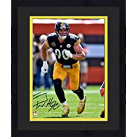 """$164 » Framed T.J. Watt Pittsburgh Steelers Autographed 16"""" x 20"""" Pass Rush Photograph - Autographed NFL Photos"""