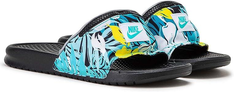 Chanclas Nike Benassi JDI Fanny Pack Print Turquesa 42.5: Amazon.es: Zapatos y complementos