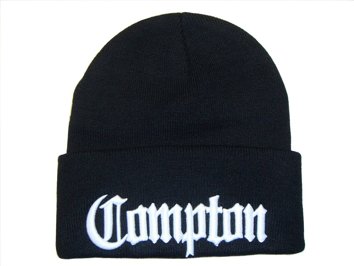 3D Embroidered Compton Eazy E Beanie Cap Hat w/ Sunglasses