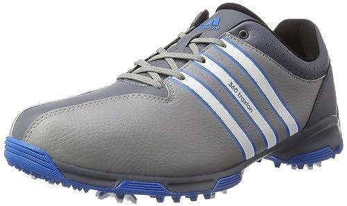 brand new 8f3cc fb79d adidas 360 Traxion WD, Zapatos de Golf para Hombre, GrisBlancoAzul, 41.3  EU Amazon.es Zapatos y complementos