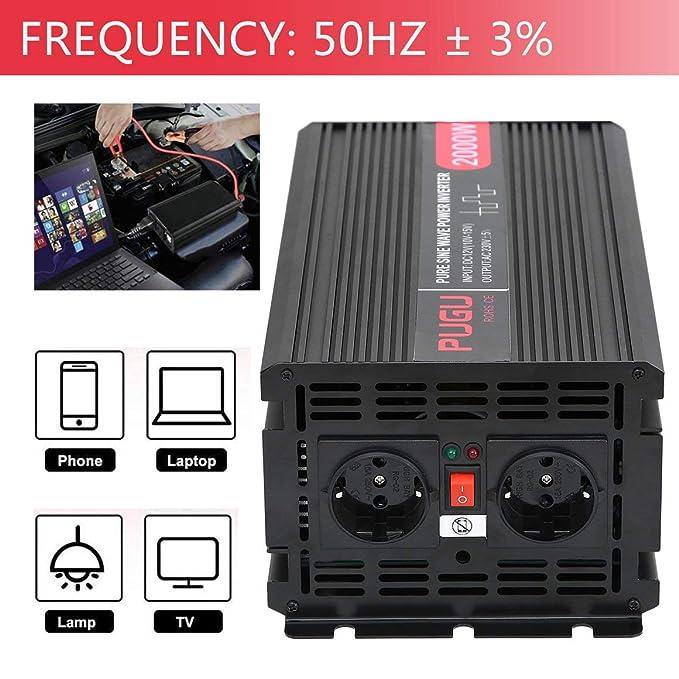 Funnyrunstore 12 V a 230 V Voltaje Convertidor 2000 W 4000 W ...