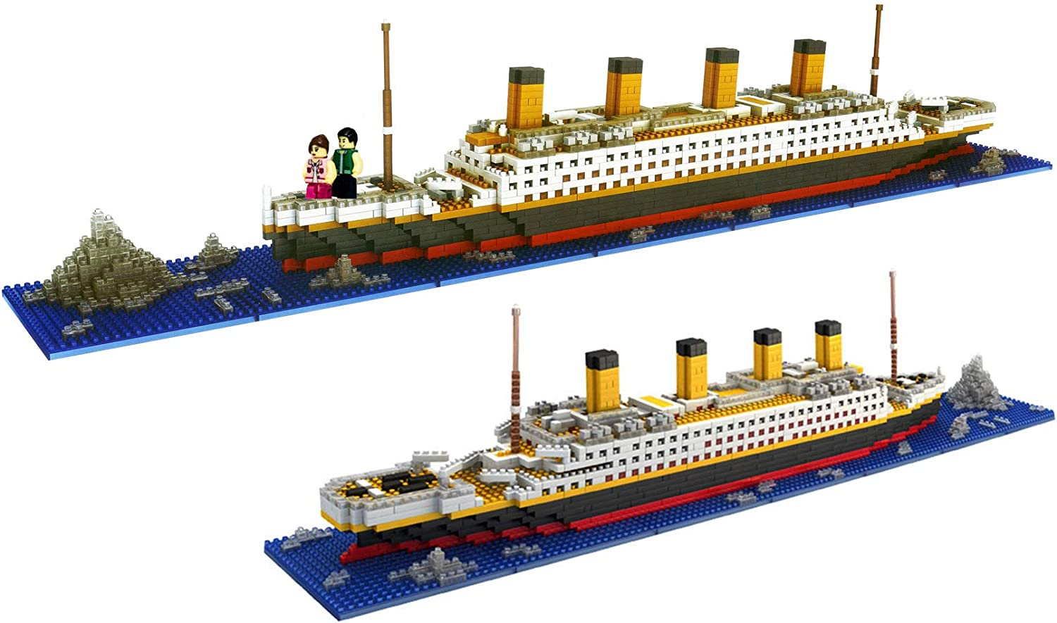 1860Pcs Child Titanic Shape Micro Diamond Particle Assembly Building Block Kit