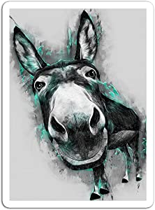 "gordonstore Sticker Creature Animal Donkey Animals Fauna (3"" x 4"", 3 PCS/Pack)"
