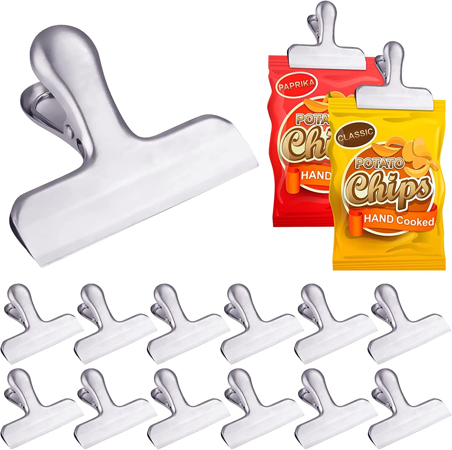 14Pack Bag Clips Heavy Duty Chip Bag Clips Heavy Duty Food Bag Clamp Air Tight Clips for Tight Seal Food Bags Coffee Bags