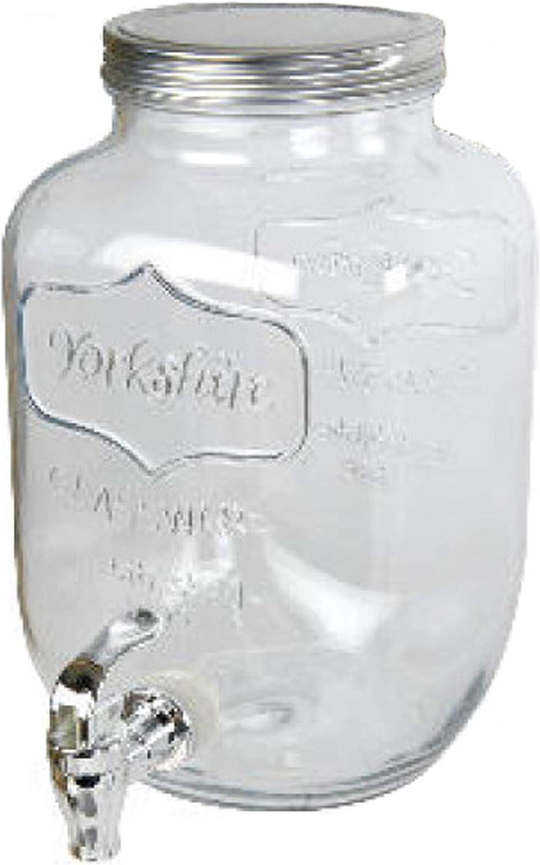 Zenhica Dispensador de Bebidas con Grifo. Capacidad 4 litros (Plata)