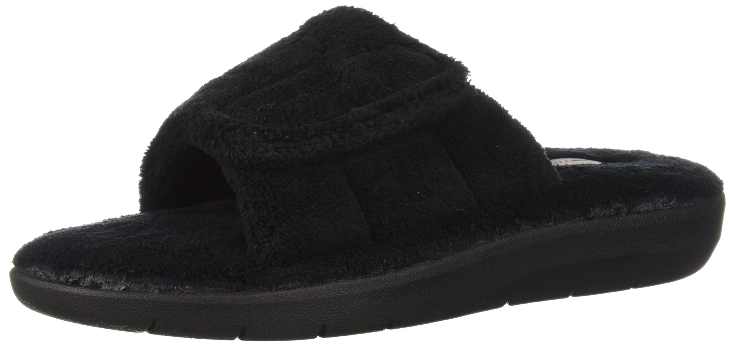Copper Fit Women's Cozy Slide Slipper, Black, M M US