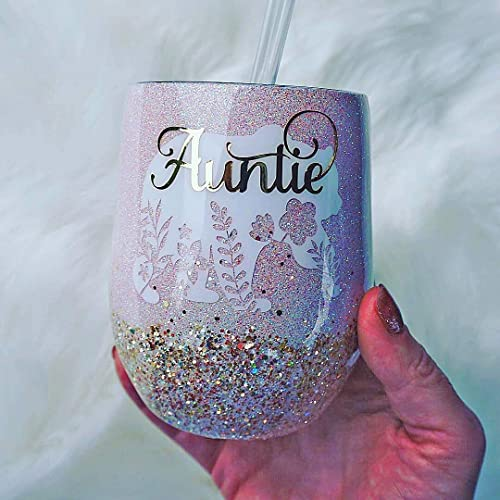 Amazon com: Auntie Bear 12 Ounce Stemless Wine Tumbler, Gift