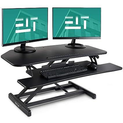 EleTab - Escritorio de pie convertidor de pie para mesa de trabajo ...