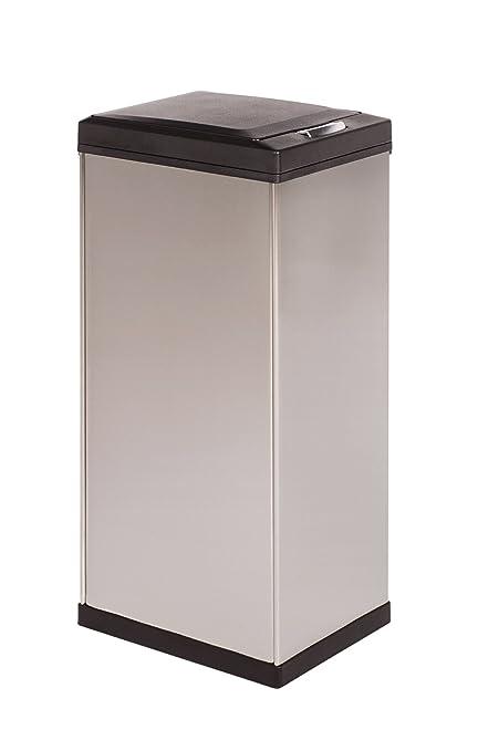 amazon com kamenstein rectangle stainless steel trash can 50 liter rh amazon com