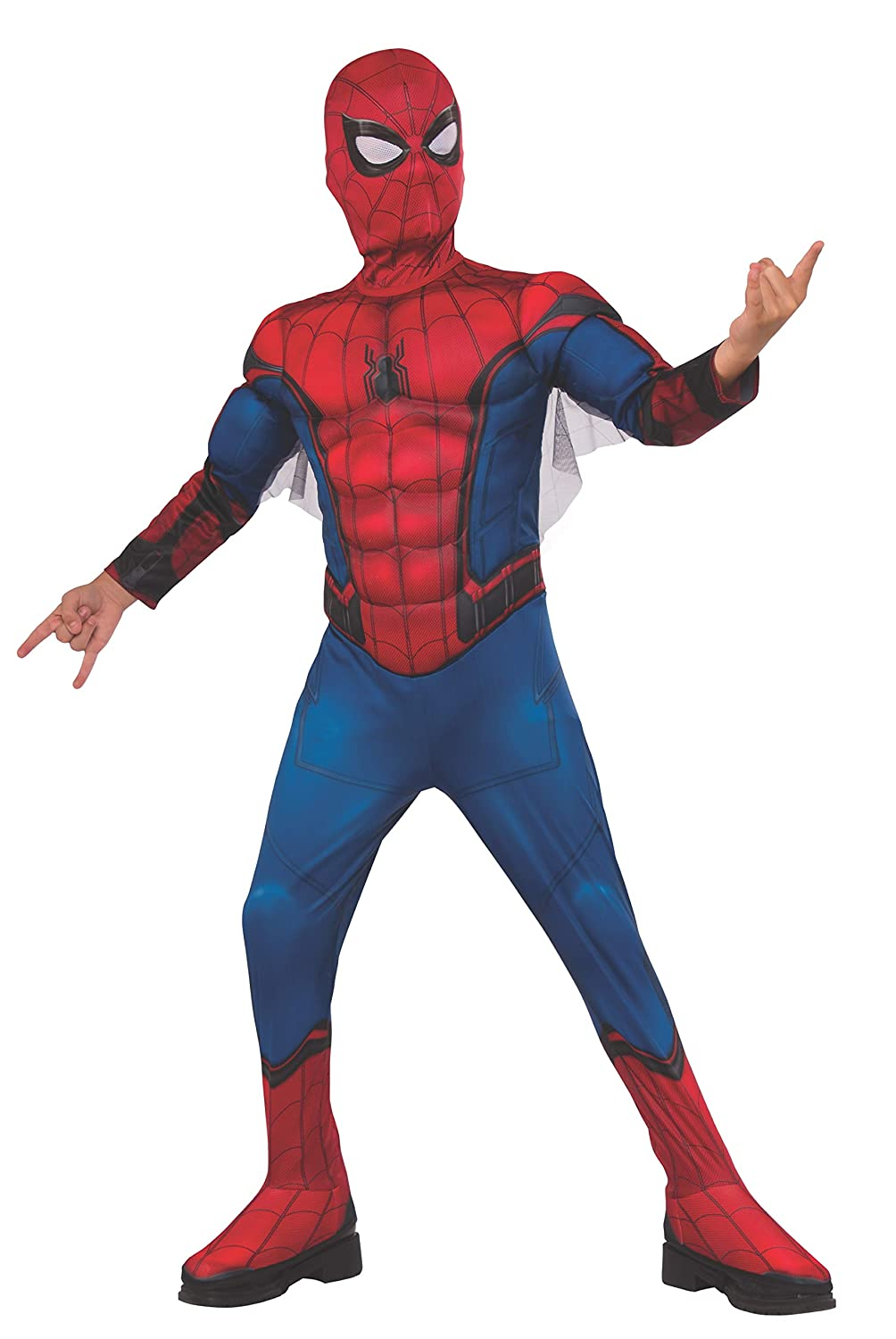 Boys Spider-Man Far From Home Blue And Red Spidey Suit Deluxe Costume