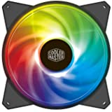 Cooler Master MasterFan MF120R ARGB 120mm Fan with Independently-Controlled ARGB LEDS, Absorbing Rubber Pads, PWM…