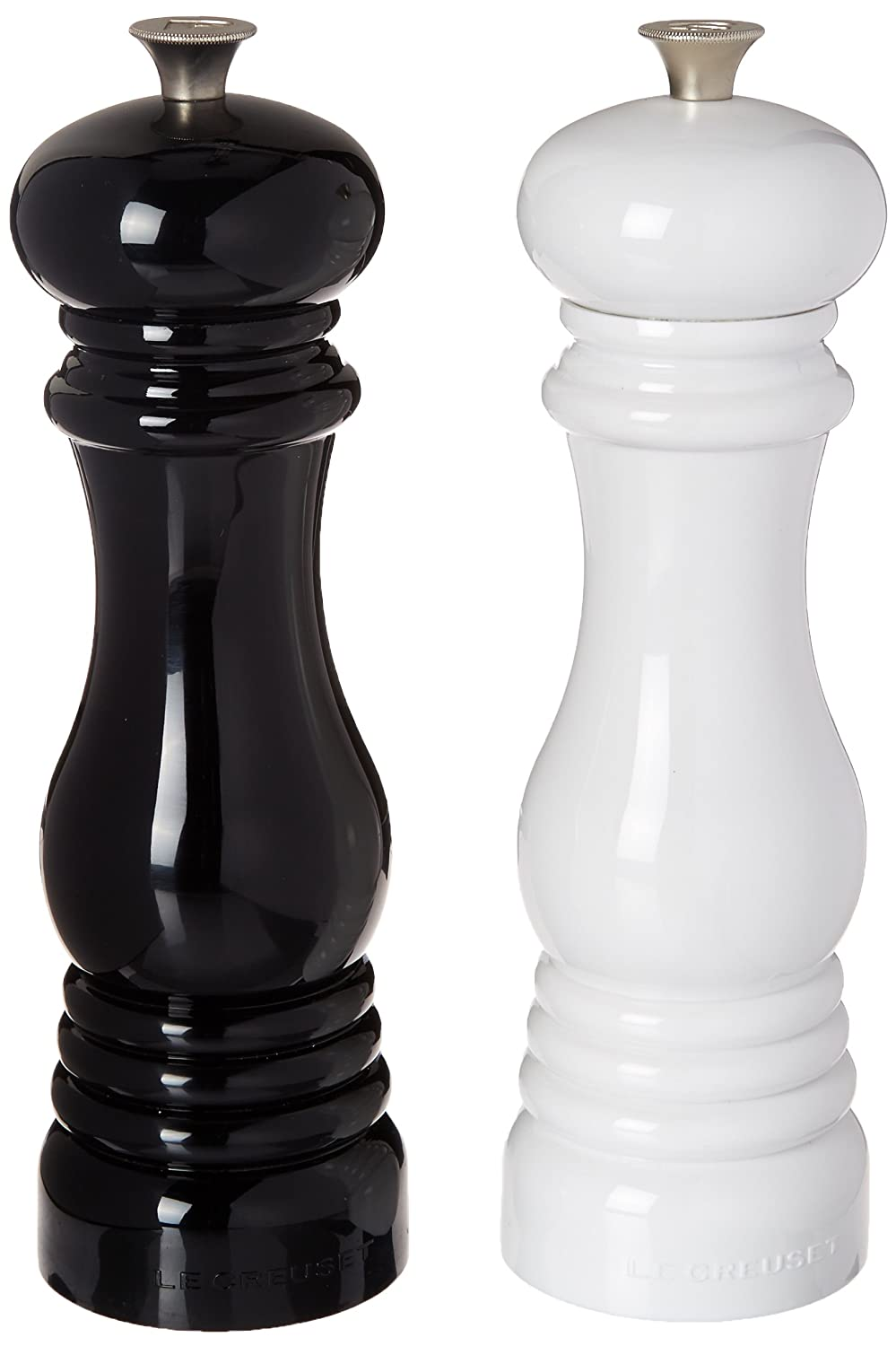 le creuset salt and pepper mill set 8 inch black and white ebay. Black Bedroom Furniture Sets. Home Design Ideas