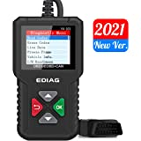 EDIAG OBD2 Scanner YA-101 Car Code Reader for Check Engine Light,O2 Sensor and EVAP Test, On-Board Monitor Test Mode 6,Smog C