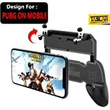 TASLAR PUBG Mobile Game Controller with Key Grip Compatible for 4.5-6.5 inch Android/iOS Phones (Black)