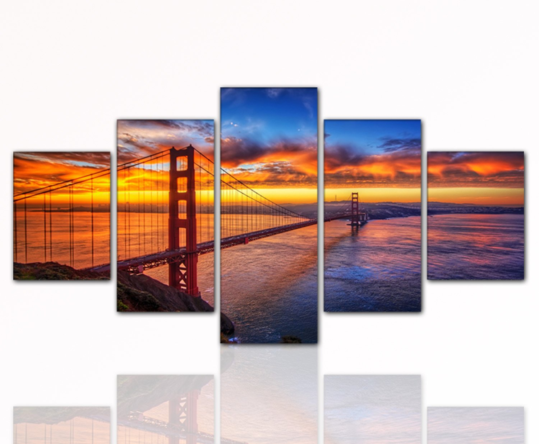 5 Teiliges Wandbild Xxl Günstig U0026 Modern