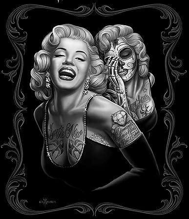 Amazoncom Black Chicano Marilyn Monroe Smile Now Cry Later Fleece