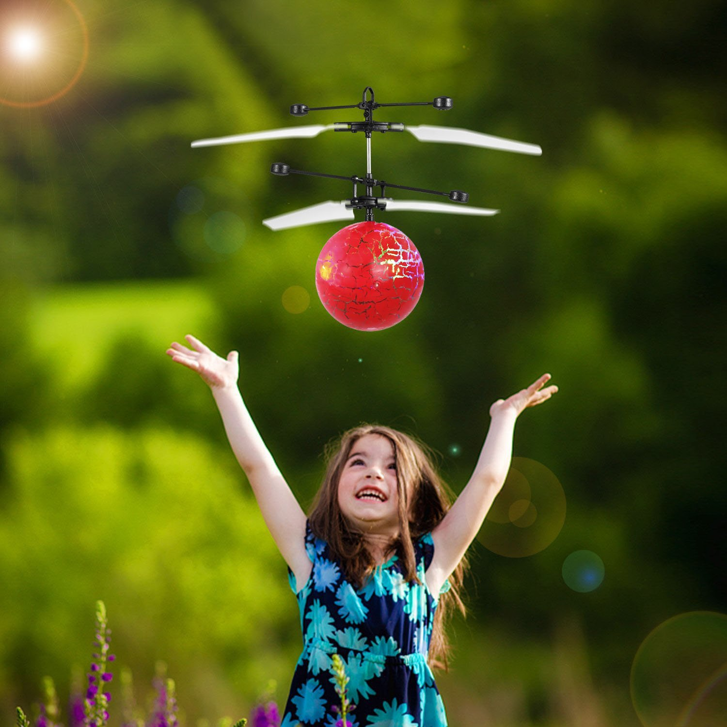 style6 Mejores Regalos DMbaby Novedad Juguetes Flying Ball Helicopter