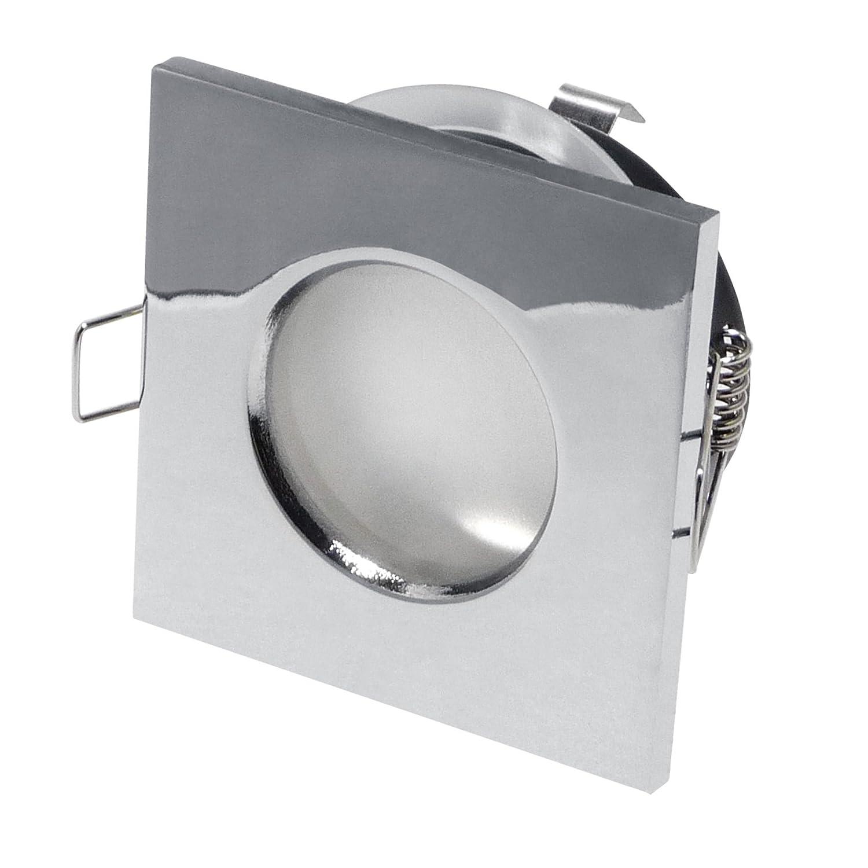 ambienti umidi/Bagnato spazio lampada–Outside–Rettangolare–IP65, Cromo + attacco GU10–Set da pezzi Cromo + attacco GU10-Set da pezzi LDD 6269-CH