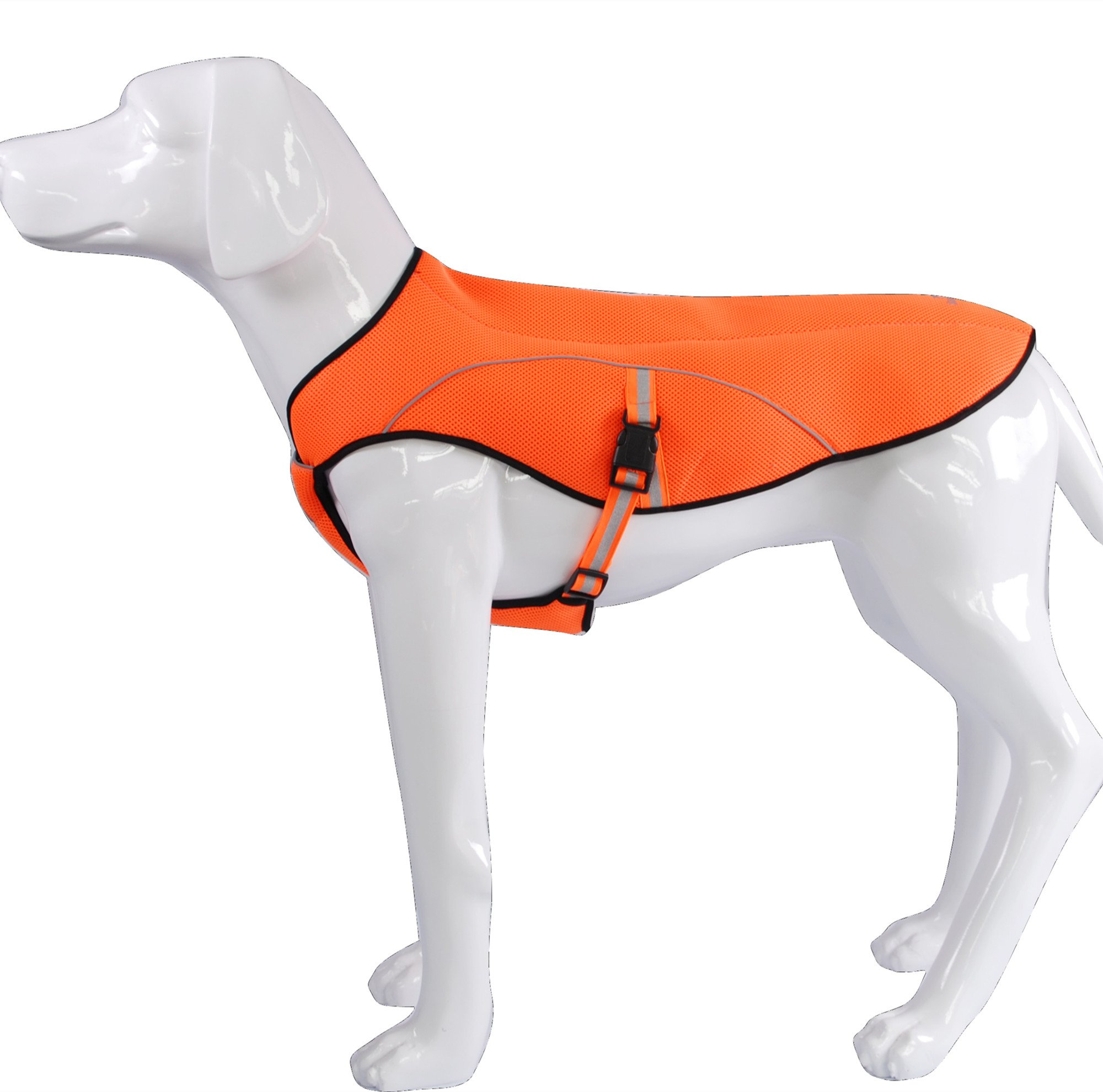 KINGSWELL Dog Jacket, Dog Anxiety Jacket Vest Poncho Clothing for Large Medium Small Dogs Outdoor Hiking Breathable Fleece Coat (L)