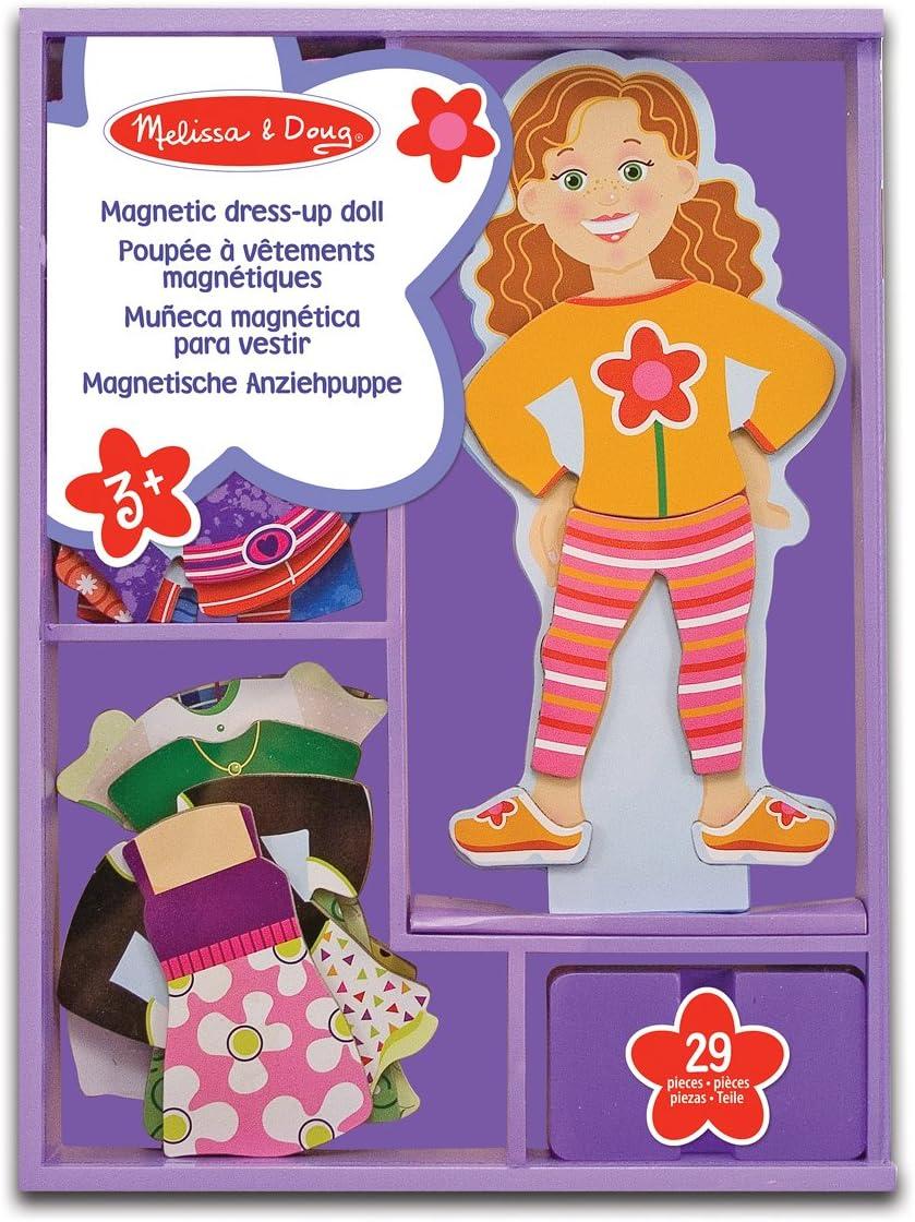 Melissa & Doug- Maggie Leigh Juego de Dress-up con Ropa Magnética, 3-6 Años, Multicolor (13552)