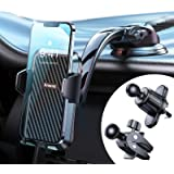 Anwas Phone Holder for Car, [Safe Driving & Bumpy Roads Friendly], Hands-Free Universal Dashboard Air Vent Phone Holder Car,