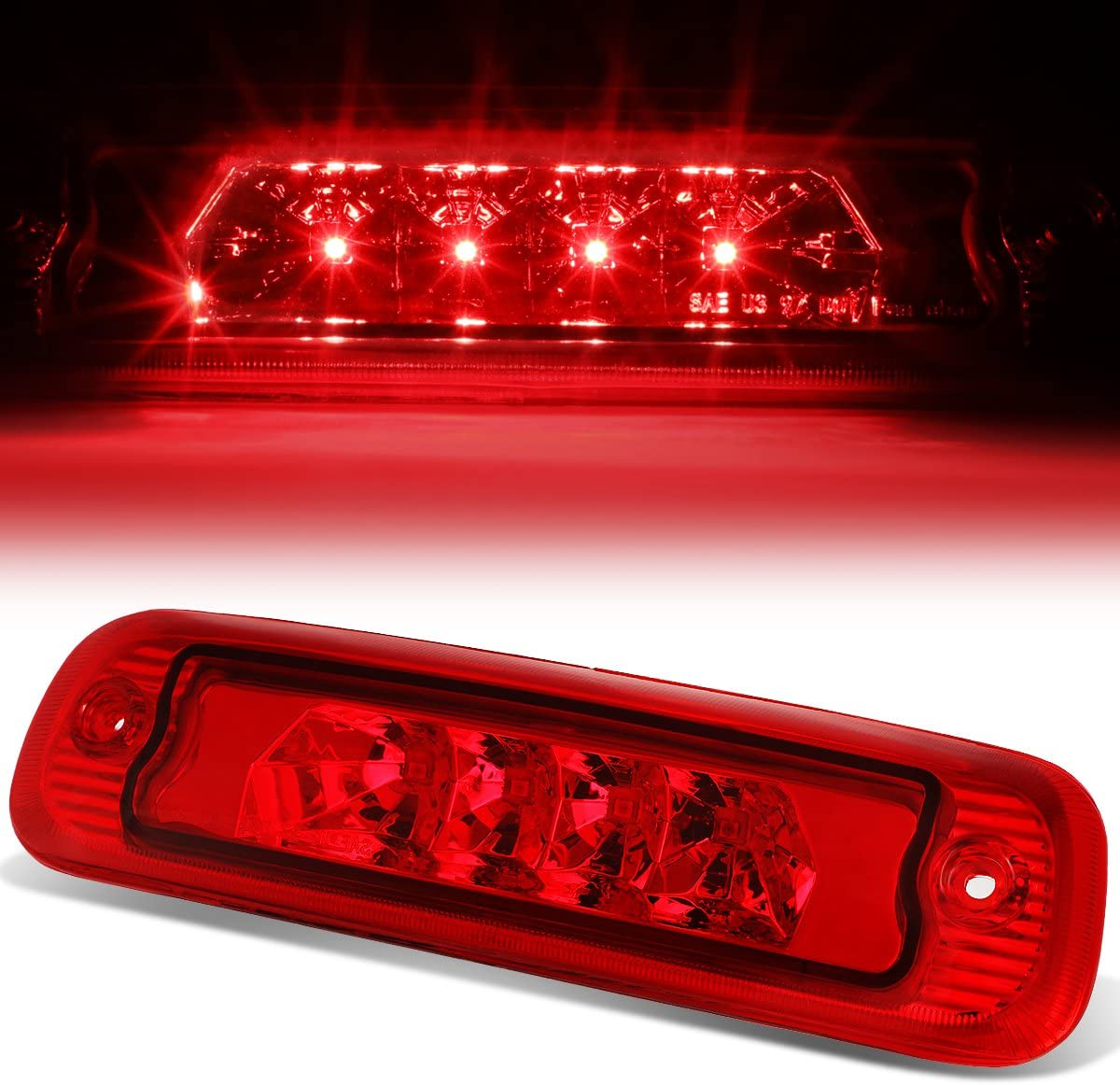 FOR 97-01 JEEP CHEROKEE XJ LED THIRD 3RD TAIL BRAKE LIGHT REAR STOP LAMP RED