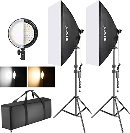 Neewer Bi-Color Dimmable LED Softbox Kit