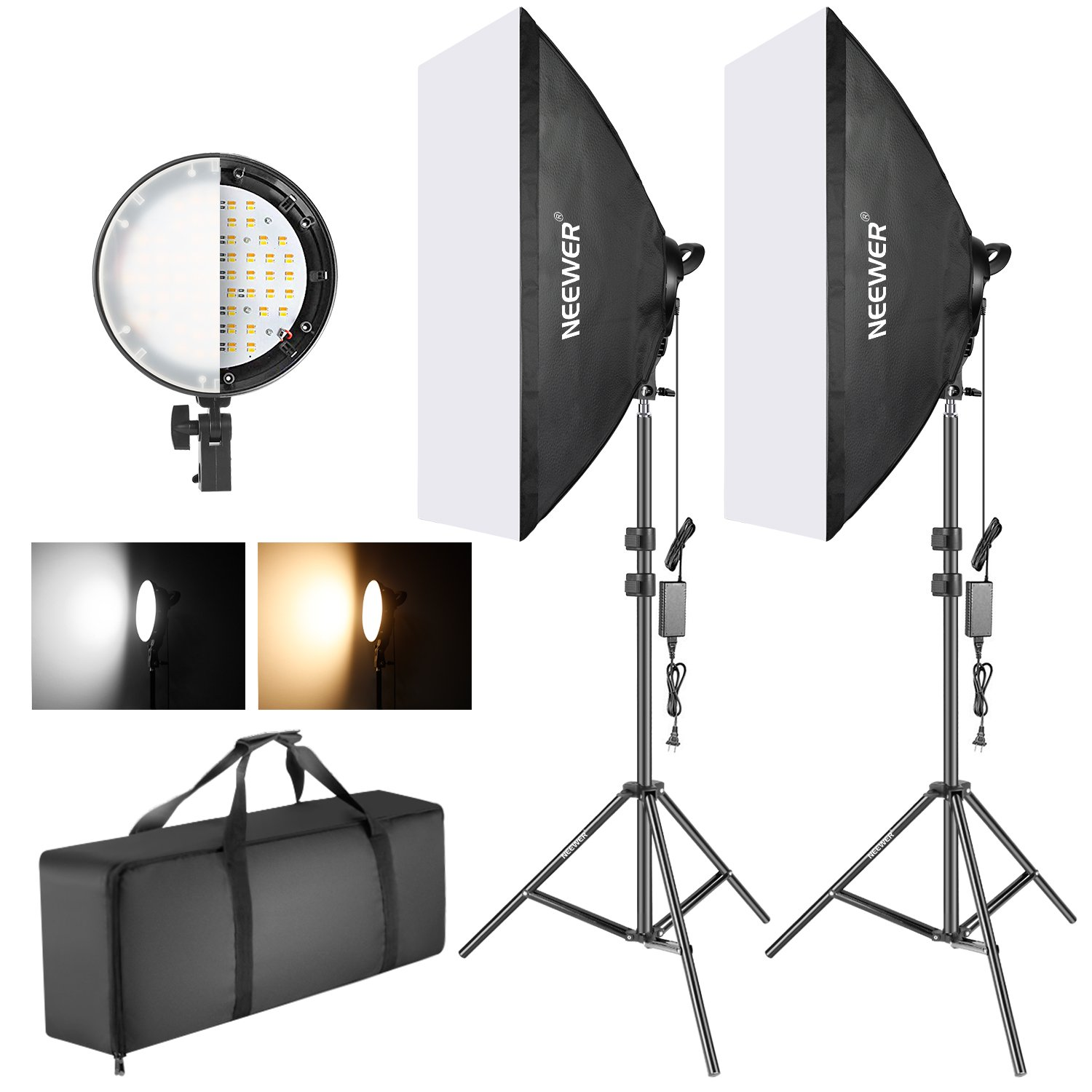 Neewer Photography Bi-color Dimmable Led Softbox Sin Fuente