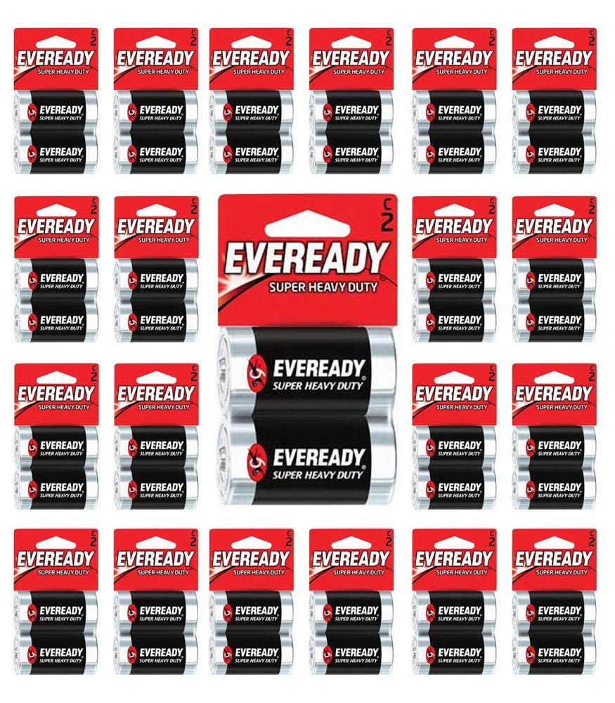192x Eveready Size C Batteries Super Heavy Duty Carbon Zinc Fresh Carded 96 x C2