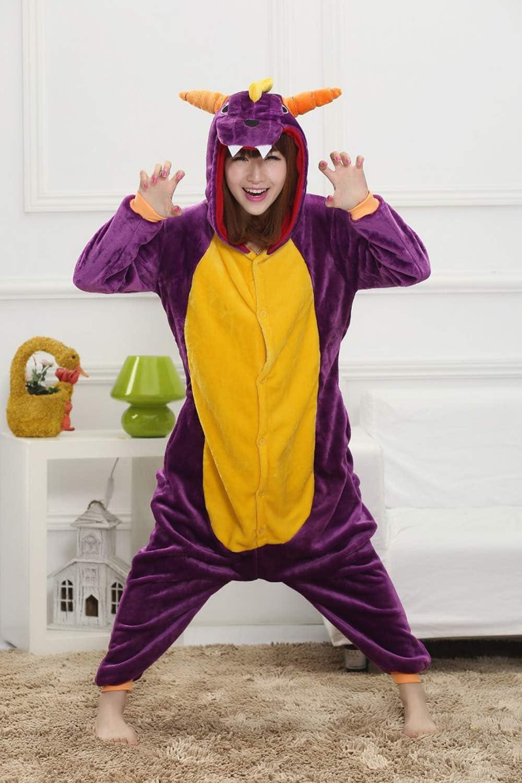 disfraz cosplay con capucha de forro polar Pijama de unicornio purple dargon Jysport unisex extra-large
