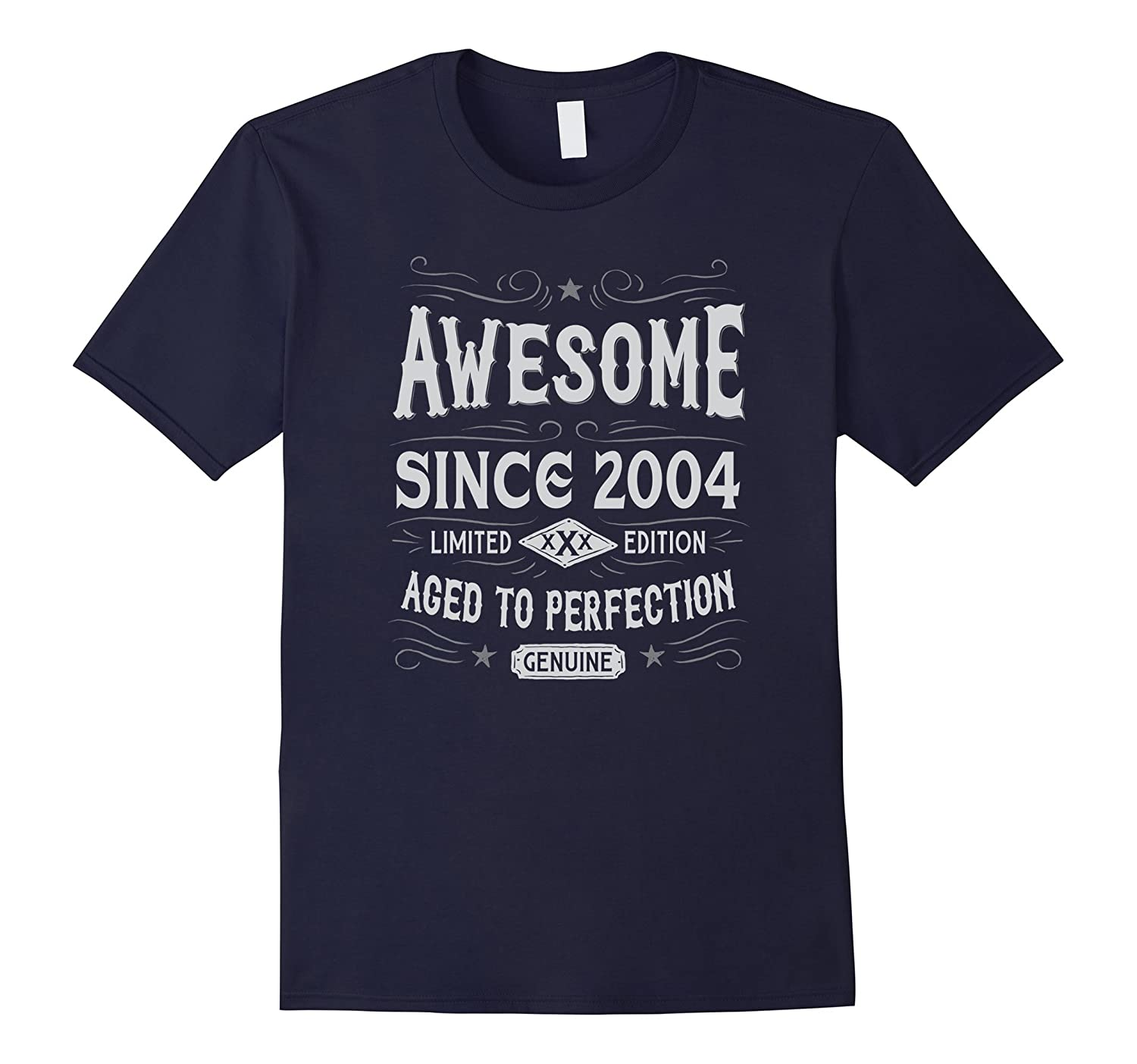 13th Birthday Gift T-Shirt Awesome Since 2004-TD