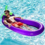 Cocity Inflatable Pineapple Pool Float,Giant Inflatable Mesh Pool Floaties Outdoor Swimming Pool Raft Lounge Decorations…