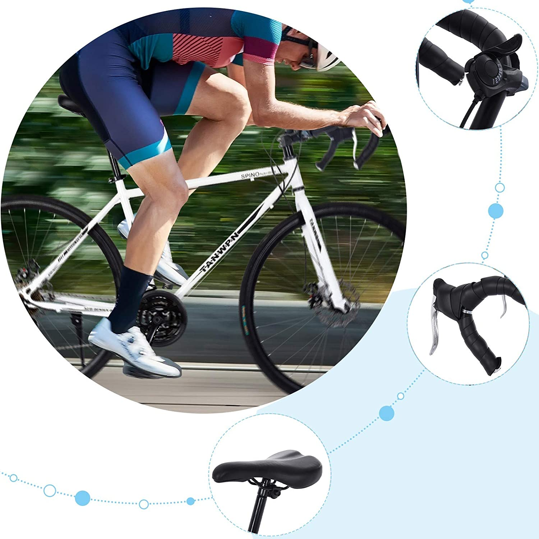 21 Speed Disc Brakes 700c Tire Bicycles Men//Women Fashionable Mountain Bikes Comfort Trail Cycling Shimanos Aluminum Full Suspension Road Bike