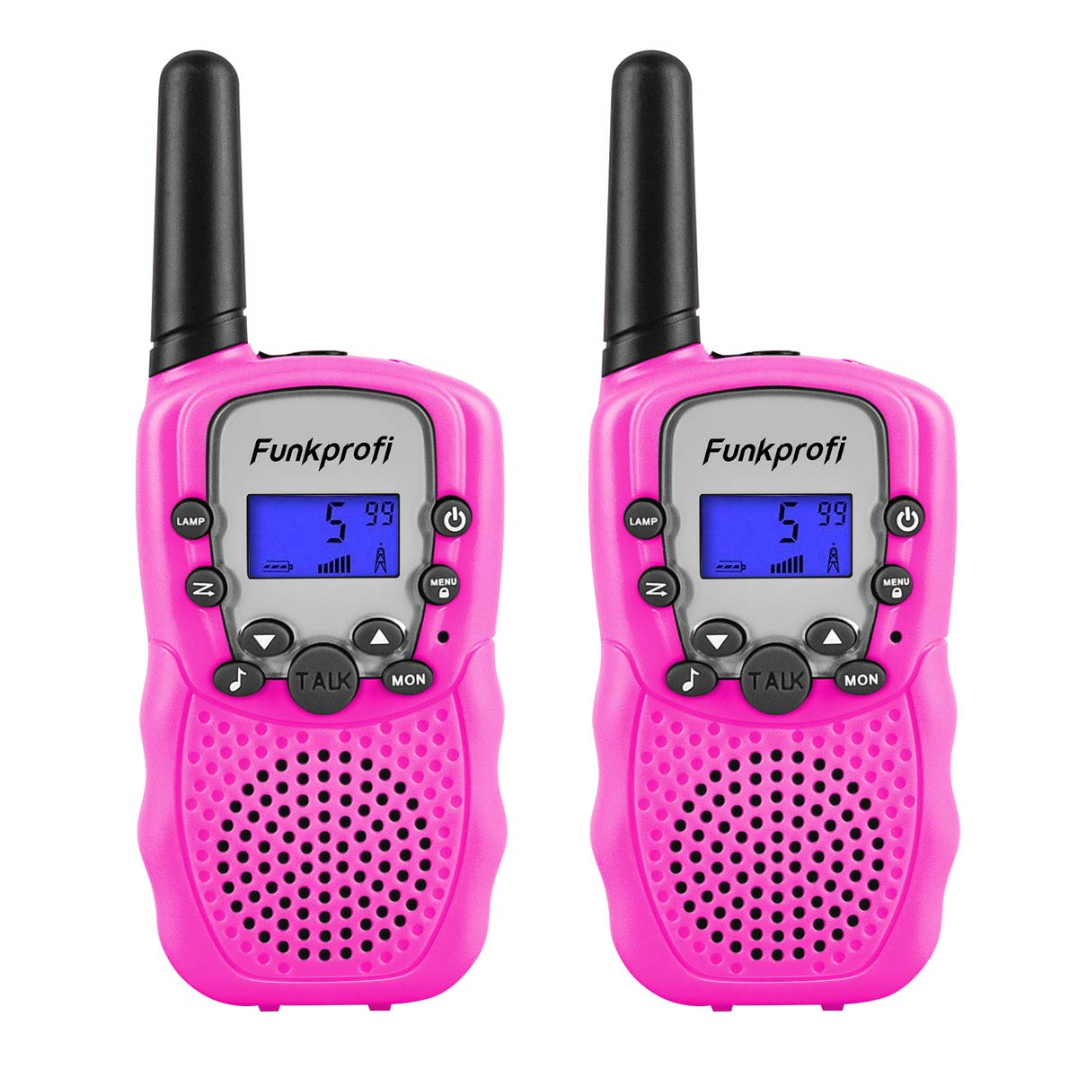Funkprofi Walkie Talkies for Kids, VOX Hands Free Noise Canceling Kids Walkie Talkies with Belt Clip and LCD Screen, 22 Channels Long Range Two Way Radios for Camping Hiking Family Activities by Funkprofi (Image #1)