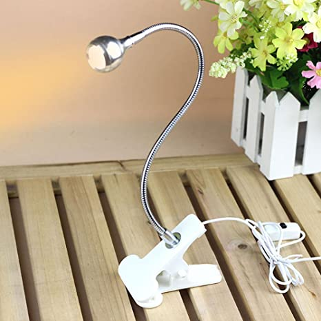 Rrimin USB Flexible Reading LED Light Clip-on Beside Bed Table Desk Lamp (Warm White White) at amazon