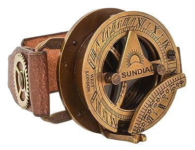 "Pulsera de Cuero con Reloj del Sol Gusti Leder ""Denise"" Brazalete Steampunk Reloj"