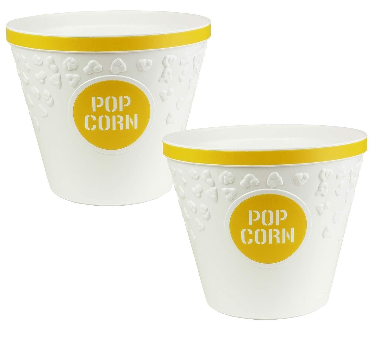 set of 2 Hutzler Popcorn Buckets yellow 388YL-2