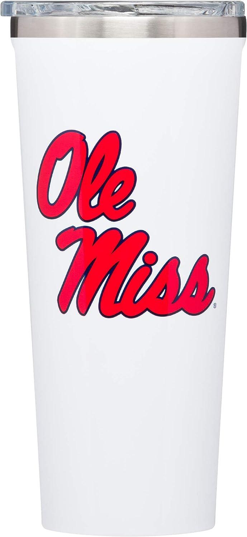 Corkcicle Tumbler - 24oz NCAA Triple Insulated Stainless Steel Travel Mug, Ole Miss - University of Mississippi Rebels, Big Logo