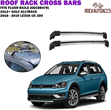 Automotive Exterior Accessories Sgcb9590mb Rokiotoex Multi Fit Roof Rack Crossbar Flush Rails Cross Bars Rooftop Ski Bike Rack Side Rail Luggage Carrier Cargo Box Aluminum Lockable 1 Pair Black Cargo Bars Zubbymichael Com Ng