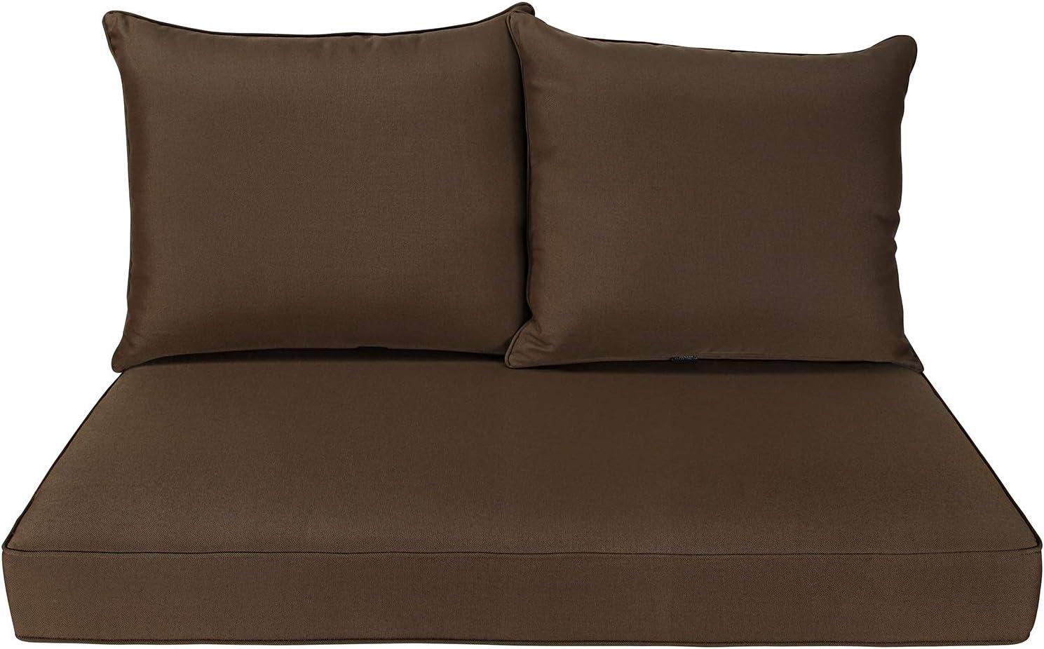 BOSSIMA Patio Furniture Cushions Comofort Deep Seat Loveseat Cushion Indoor Outdoor Seating Cushions Coffee