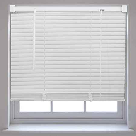 office window blinds. PVC Venetian Window Blinds Trimmable Home Office Blind New - White 45cm X 150cm