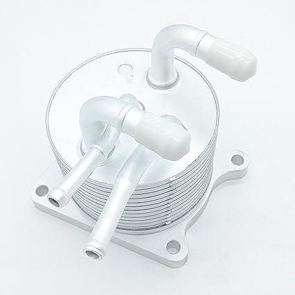 Amazon com: CVT Transmission Oil Cooler Heat Exchanger 4 Outlets for