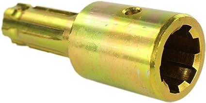 6 with Quick Rel PTO Adapter 6 x Male spline 1 3//8/'/' Female spline 1 3//8/'/'