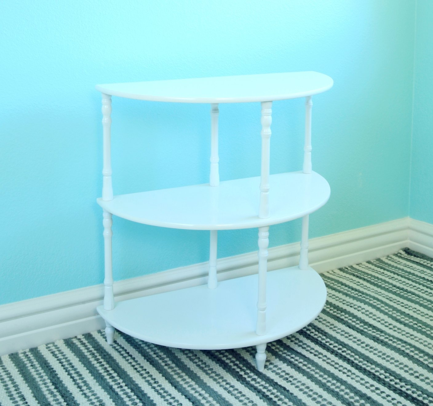 Frenchi Home Furnishing MW25-WH Multi-Tiered End Table, White