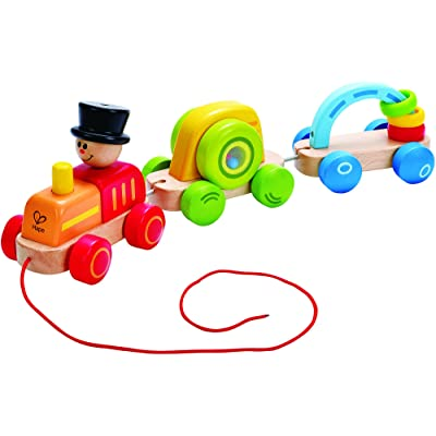 Hape Wooden Railway Triple Play Wooden Train Set: Toys & Games